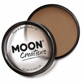 Light Brown- Moon Creations Pro Face & Body Makeup Cake Pot, 36g