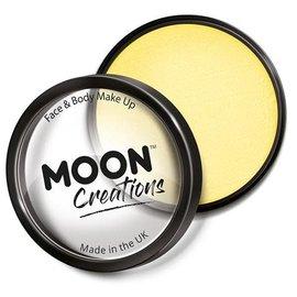 Light Yellow- Moon Creations Pro Face & Body Makeup Cake Pot, 36g
