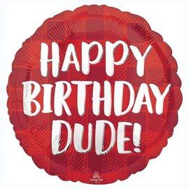 "Happy Birthday Dude Balloon, 18"" (#74)"