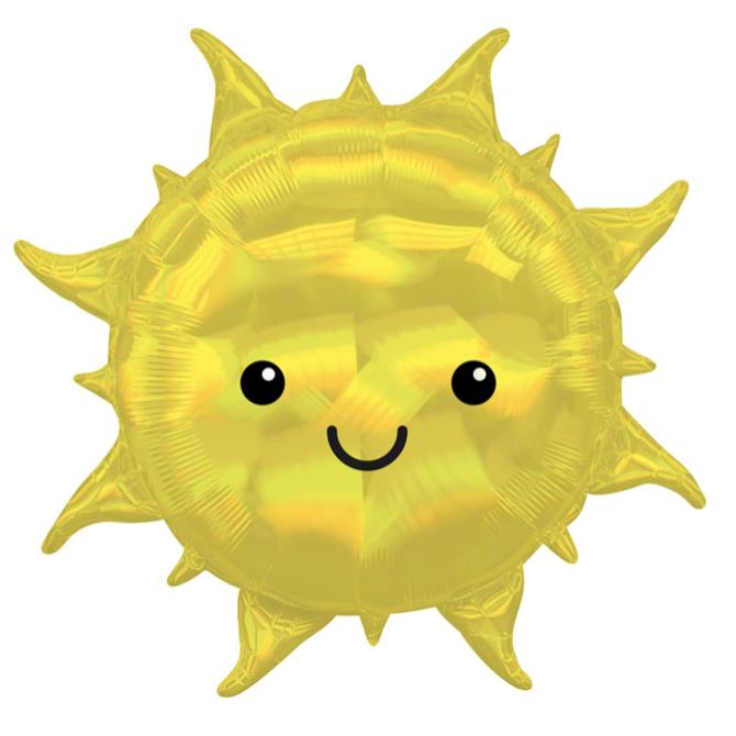 """Iridescent Sun Holographic Balloon, 27"""""""
