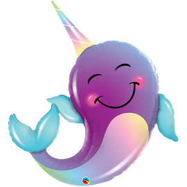 "Pastel Party Narwhal Balloon, 40"" (#224)"