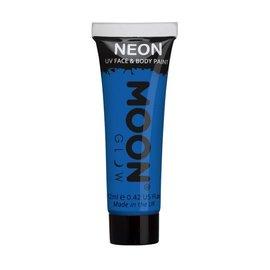 Intense Blue- Moon Glow Neon UV Face & Body Paint, 0.42 oz