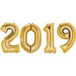 """2019 Number Bunch - Gold, 34"""""""