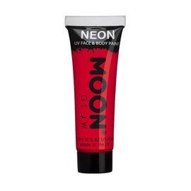 Intense Red- Moon Glow Neon UV Face & Body Paint,  0.42oz