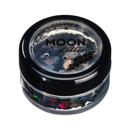 Black- Moon Chunky Holographic Glitter, 3g