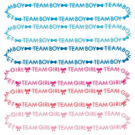 Gender Reveal Team Boy/Team Girl Bead Necklaces- 10ct