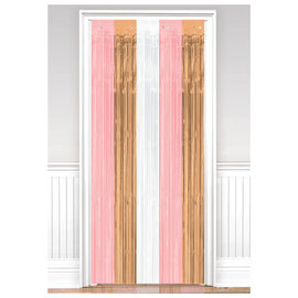 Door Curtain - Rose Gold/Blush 3' x 8'