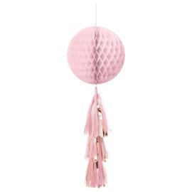 Honeycomb Ball w/ Tail - Rose Gold/Blush
