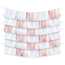 Foil Decorating Backdrop - White