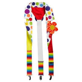Deluxe Clown Suspenders - Adult Standard