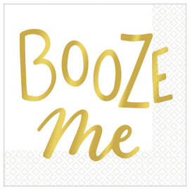 Booze Me Beverage Napkins - Hot-Stamped - 16ct