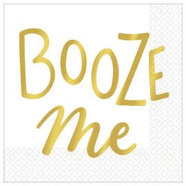 Booze Me Beverage Napkins - Hot-Stamped - 16ct