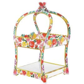 Bright Florals Treat Stand