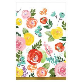 "Bright Florals Square Plates, 10"" - 8ct"