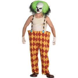 Scary Clown Hoop Pants w/ Suspenders - Adult Standard