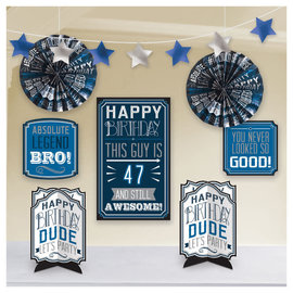 Happy Birthday Man Add-An-Age Room Decoration Kit