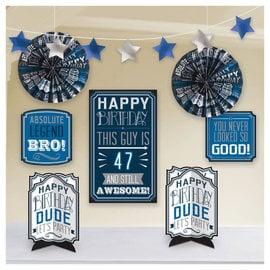 Happy Birthday Man Add-An-Age Room Decoration Kit