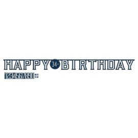 Happy Birthday Man Jumbo Add-An-Age Letter Banner