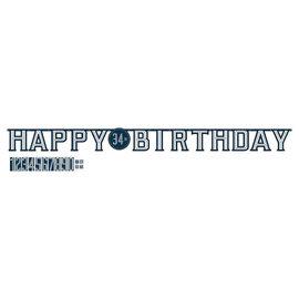 Happy Birthday Man Jumbo Add-An-Age Letter Banner