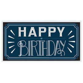 Happy Birthday Man Horizontal Sign Banner