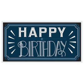 Happy Birthday Man Horizontal Sign Banner