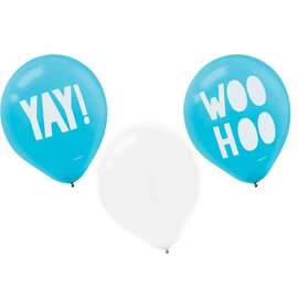 "Shimmering Party Printed 12"" Latex Balloons - 6ct"