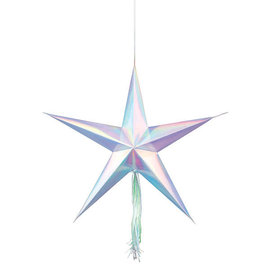 Shimmering Party Hanging 3D Stars - 3ct