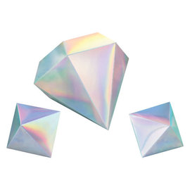 Shimmering Party 3D Table Decorations - 3ct