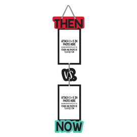 Over the Hill Then vs. Now Photo Sign