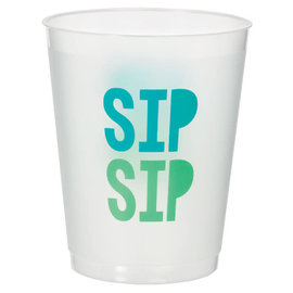 Shimmering Party Frosted Stadium Cups, 14 oz. - 8ct