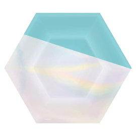 """Shimmering Party Hexagonal Plates, 7"""" -8ct"""