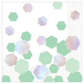 Shimmering Party Luncheon Napkins - Hot-Stamped -16ct