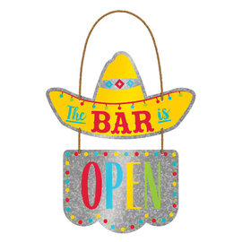 Cinco 2 Tier Hanging Sign-Metal w/ rope hanger