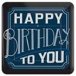 "Happy Birthday Man Square Plates, 10"" 8ct"