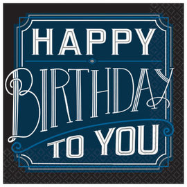 Happy Birthday Man Luncheon Napkin 16ct