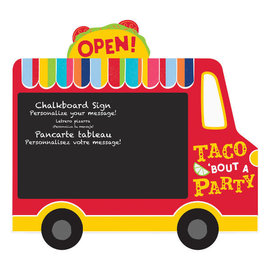 Taco Truck Chalkboard Easel Sign