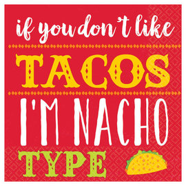 I'm Nacho Type Beverage Napkins -16ct