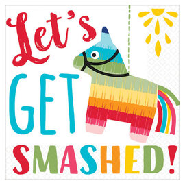 Let's Get Smashed Beverage Napkins -16ct