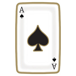 "Casino Playing Card Shaped Plates, 9"" -8ct"