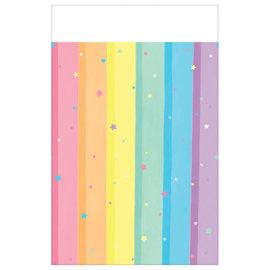 Magical Rainbow Birthday Plastic Tablecover