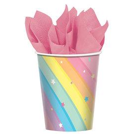 Magical Rainbow Birthday Cups, 9 oz -8ct