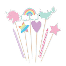 Magical Rainbow Birthday Candle Mix -8ct