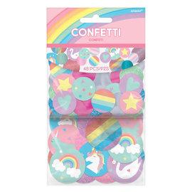 Magical Rainbow Birthday Giant Glitter Confetti -48pc