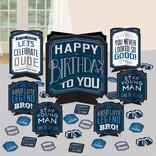 Happy Birthday Man Table Centerpiece Decorating Kit