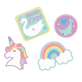 Magical Rainbow Birthday Embroidered Patches -4ct