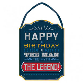 Happy Birthday Man Sign