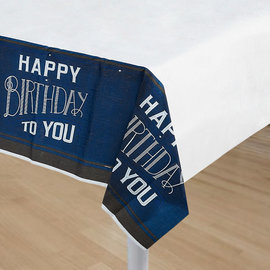 """Happy Birthday Man Paper Tablecover 54"""" x 102"""""""