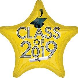 "Class Of 2019 Yellow Star, 19"""