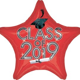 Class Of 2019 Red Star, 19""