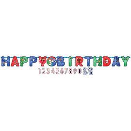 PJ Masks Jumbo Add-An-Age Letter Banner